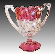Indiana Glass: Monticello Cranberry Flashed Chalice Vase