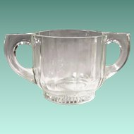 "Indiana Glass ""Peerless Colonial"" Double Handled Sugar"
