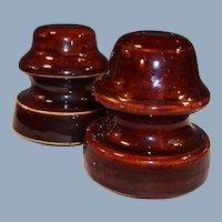Two Vintage Porcelain Insulators