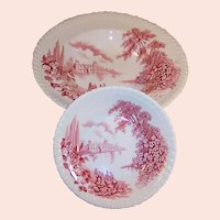 """Johnson Brothers: """"Castle on the Lake""""  Fruit and Soup Bowls"""