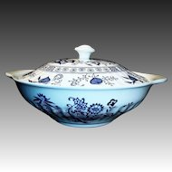 J & G Meakin Blue Nordic Covered Vegetable Bowl