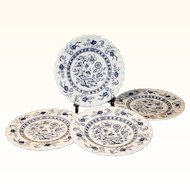 "Set of 4: J & G Meakin Blue Nordic 7""  Plates"