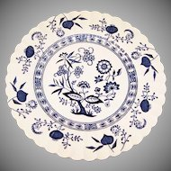 "8"" Blue Nordic Salad Plate J&G Meakin"