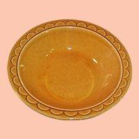 "1960's Homer Laughlin Granada Golden Harvest 9"" Serving Bowl"