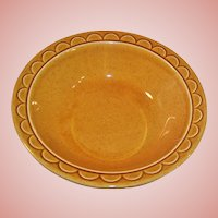 "1960's Homer Laughlin Granada Golden Harvest 9"" Serving Bowl"