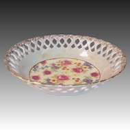 Pierced Lattice & Luster Floral Serving Bowl