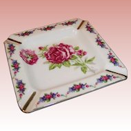 Marked Japan Porcelain Rose Ashtray