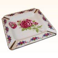 Marked Japan Porcelain Rose Ashtray