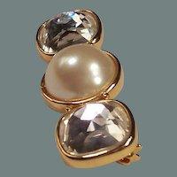 Vintage Marvella Simulated Pearl Bar Pin