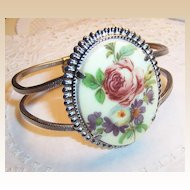 Rose Bouquet Clamper Bracelet