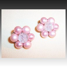 Pearlized Pink Luster Earrings