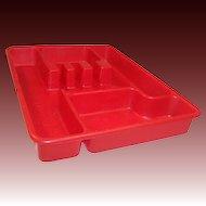 Sale!   Red Lustro-Ware Utensil (Tableware) Tray