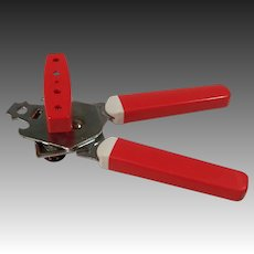 Retro Red & White Can Opener