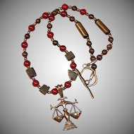 Justice Necklace in Bronze, Pyrite & Quartzite