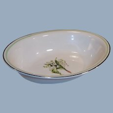 1940's Homer Laughlin Lily of the Valley Oval Serving Bowl