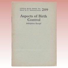 "C. 1921 Little Blue Book No. 209: ""Aspects of Birth Control"""