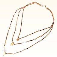 Monet Triple Chain Segmented Necklace