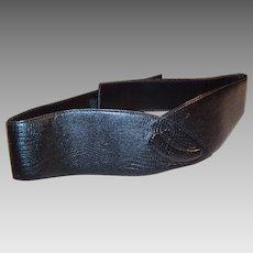 Vintage Liz Claiborne Wide Leather Waist Belt