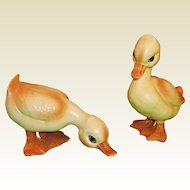 Pair Lefton Baby Ducks / Ducklings H6981 -- Cute for Easter, Spring, or a Nursery!