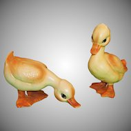 Pair Lefton Baby Ducks / Ducklings H6981 -- Cute for Easter, Spring, or a Nursery!
