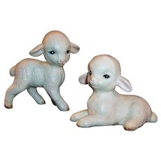 Lefton Set of Lambs for Spring, Easter or Nursery Decor