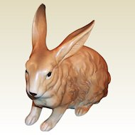 LARGE Lefton Brown Bunny Rabbit H6661 ... perfect for Easter, Spring, or the Baby Nursery