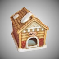 1992 Lefton Christmas Colonial Village Rover Dog House
