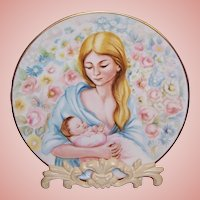 """Phillippe Deshoulieres Limoges French Collectible Plate; """"Louise et Louisette"""""""