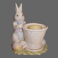 Lenox Easter Rabbit Basket Eggs Votive Candle Holder
