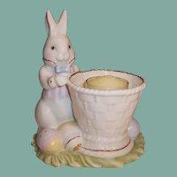 Lenox Easter Rabbit Basket Eggs Votive Candle Holder
