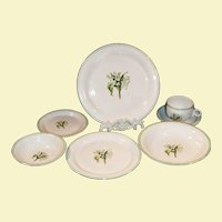 1940's Laughlin Lily of the Valley Place Settings ( 4 now available)
