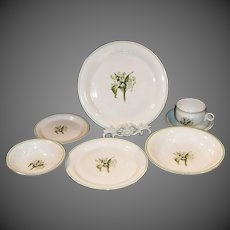 1940's Laughlin Lily of the Valley Place Settings ( 8 available)