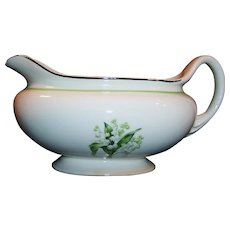 Homer Laughlin Lily of the Valley Eggshell Nautilus Gravy Server