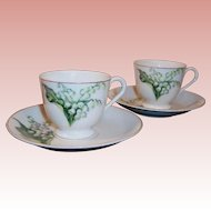 Lily of the Valley Demitasse Sets