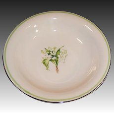 """Homer Laughlin Lily of the Valley Swing 8"""" Soup Bowl"""