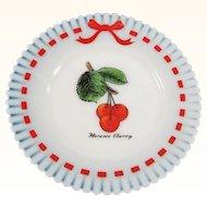 "Monax Petalware Florence Cherry Decorative 8"" Plate"