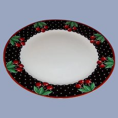 Mary Engelbreit At Home Cherry Cameo Dinner Plate