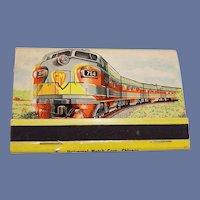 General Motors Locomotive Train Unused Matches, Matchbook