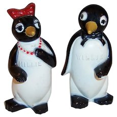 Millie & Willie  Penguin Salt & Pepper Shakers