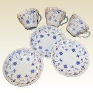 Set of THREE:  Finlandia Cups & Saucers by Myott