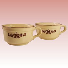 SET of TWO: Pfaltzgraff Village Soup Mugs