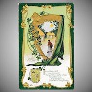 Antique E. Nash St. Patrick's Day Irish Village Postcard Erin Go Bragh