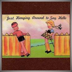 Unused Vintage Comic Colourpicture Postcard