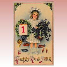 1900 Levelezo-Lap Happy New Years Post Card