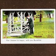 Early 1900's Victorian Couple (Illustrated Song Series) Postcard