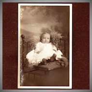 Antique Real Photo Baby Postcard