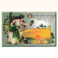 "Antique Raphael Tuck & Sons ""Erin Go Bragh"" St. Patrick's Day Postcard"