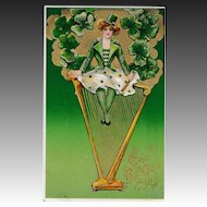 Antique Samuel Schmucker St. Patrick's Day Winsch Postcard