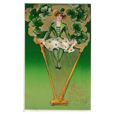 Antique Samuel Schmucker St. Patrick's Day Winsch Postcard