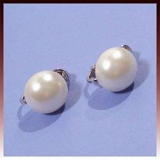 Sarah Coventry Simulated Pearl  Earrings